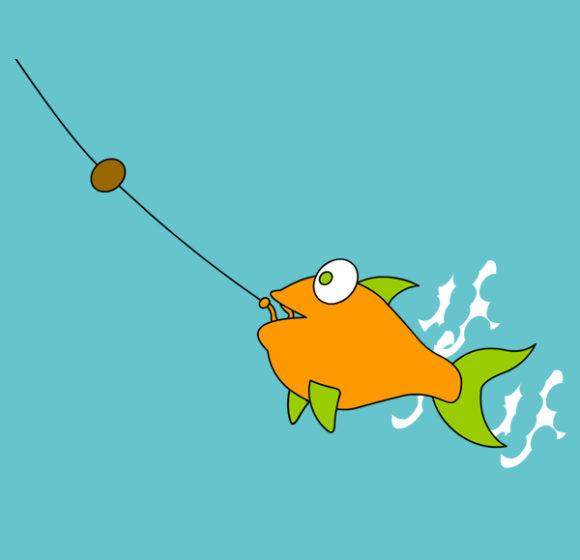 Pesce che esce